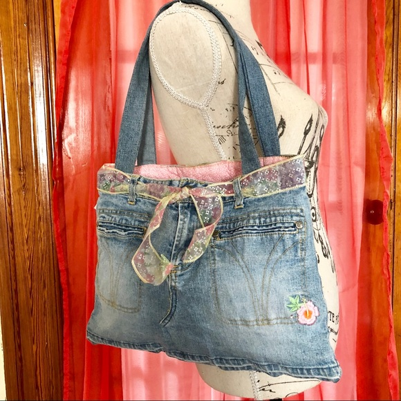 Paris Blues Bags   Sale Final Price Retro Jean Hippie Bag   Poshmark 92d56ec43c